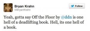 Twitter _ BryanKrahn_ Yeah, gotta say Off the Floor ...
