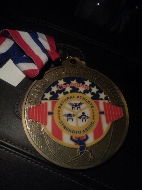 Hardware courtesy of @SoWrongFitness and his Off The Floor-powered powerlifting meet PR.