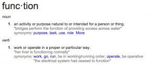 define function